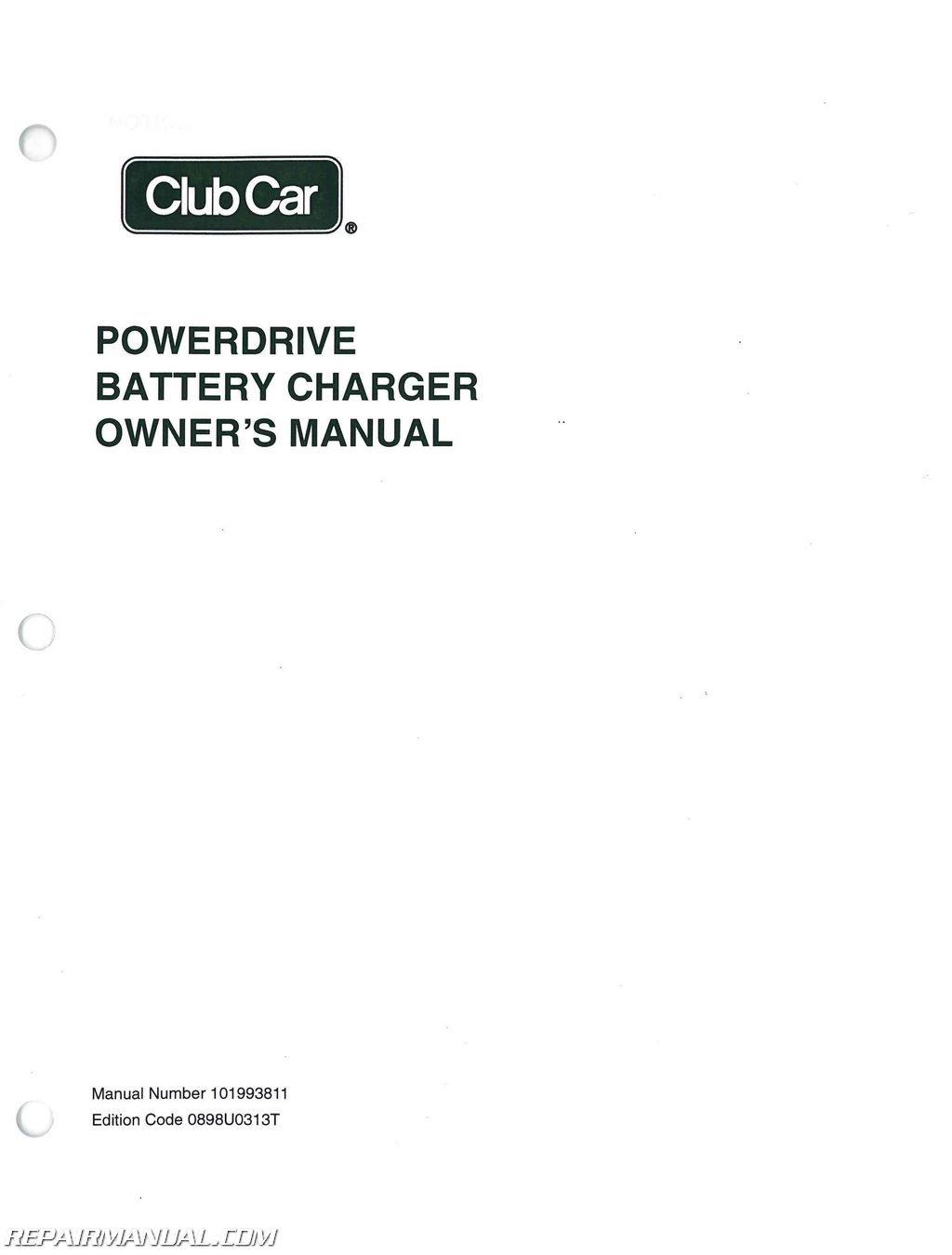 Club Car Charger Manual