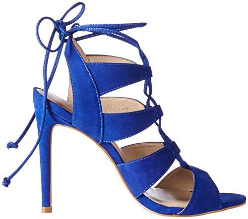 Steve Madden SANDALIA Sandale Femme Cuir Bleu 37