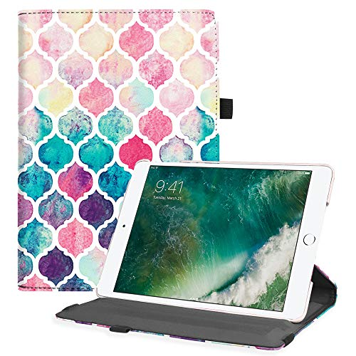 Fintie iPad 9.7 2018 2017 / iPad Air 2 / iPad Air Case - Multiple Angles Stand Smart Protective Cover with Auto Sleep Wake for iPad 9.7 inch (6th Gen, 5th Gen) / iPad Air 2 / iPad Air, Moroccan Love