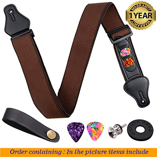 Guitar Strap Pure cotton-Adjustable Guitar Strap for Acoustic Classical and Electric Guitar Strap