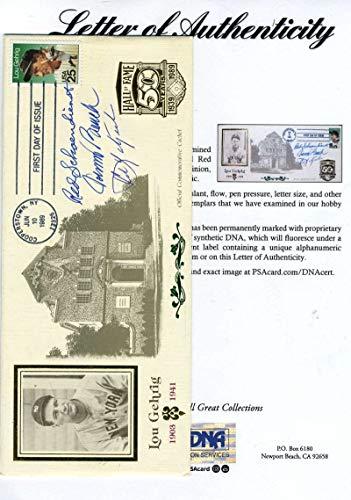 RED SCHOENDIENST JOHNNY BENCH CARL YASTRZEMSKI PSA DNA Autograph Hi End HOF FDC Signed -