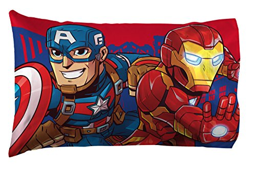 Jay Franco Marvel Avengers Heroes Amigos 4 Piece Toddler Bed Set – Super Soft Microfiber Bed Set – Bedding Features Captain America, Hulk, Iron Man, and Spiderman (Official Marvel Product) 5