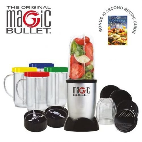 - Magic Bullet 17 piece Food Processor - The Original - In 10 seconds or less Chop Mix Blend Whip Grind Mince Make Healthy Smoothies and Nutritious Desserts. As seen on TV - Over 40 million sold