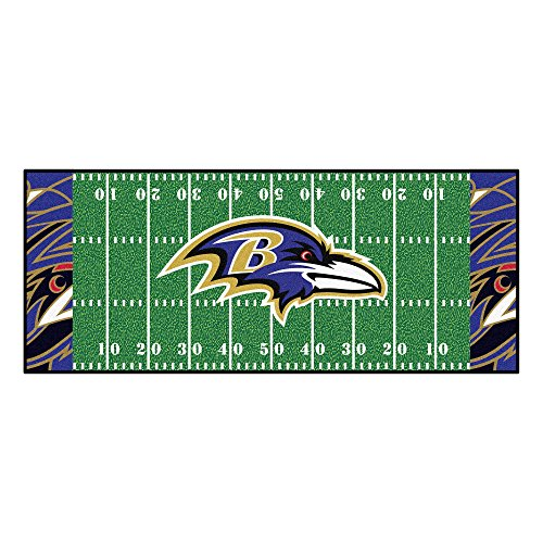 FANMATS NFL Baltimore Ravens NFL-Baltimore Ravensfootball Field Runner, Team Color, One Size