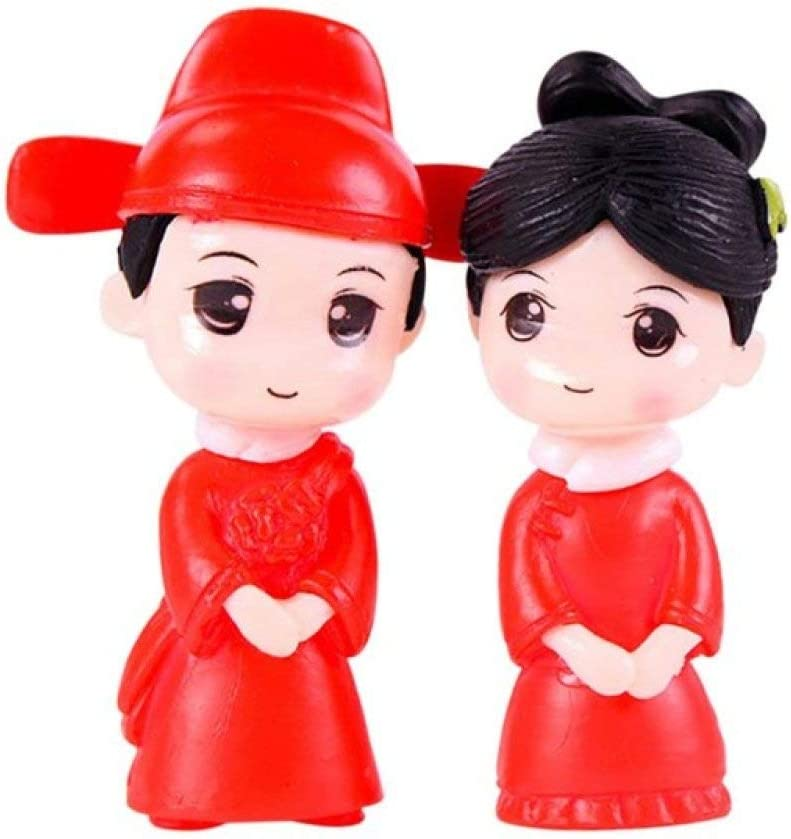LIAOLEI10Escultura Sweety Lovers Pareja en Silla Figuras Miniatura Craft Fairy Garden GNOME Moss Terrarium Gift DIY Ornament Garden Decor, C, S