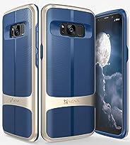 Galaxy S8 Case, Vena [vAllure] Wave Texture [Bumper Frame][CornerGuard Shockproof | Strong Grip] Slim Hybrid C