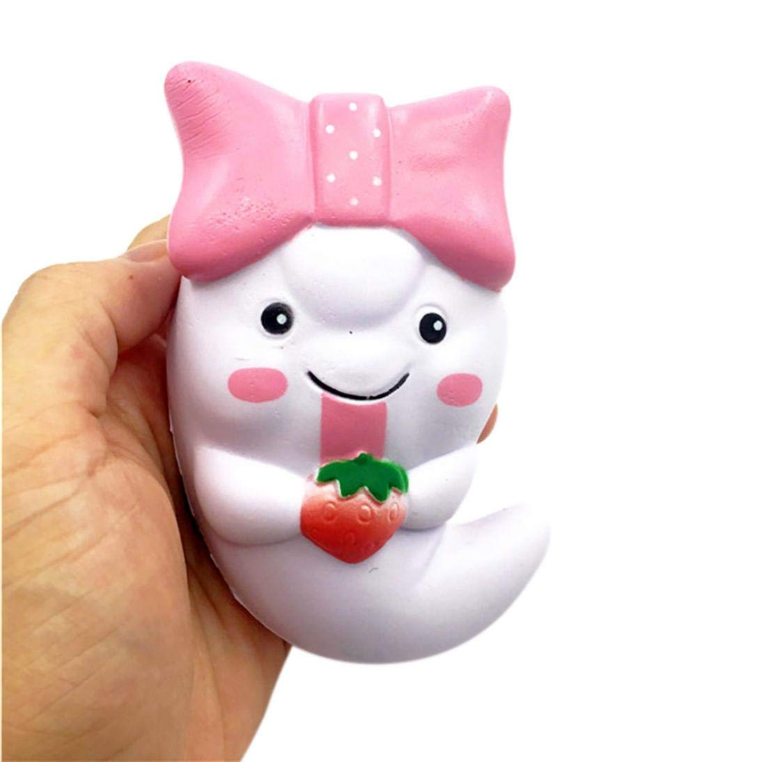 Halloween Toys - Jumbo Slow Rising Squishies Roysberry Toys, Cute Stress Relief Toys Ball Squishy Soft Kawaii Scented Decoration Toys for Adults White Bow Ghost 3D Puzzle Toys for Kids for Girls
