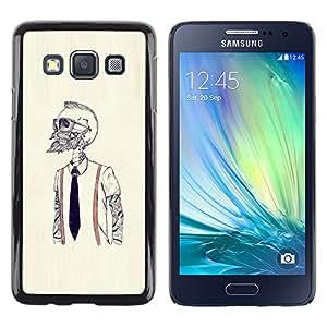 EJOY---Cubierta de la caja de protección la piel dura para el / Samsung Galaxy A3 / --Hipster Bearded Esqueleto