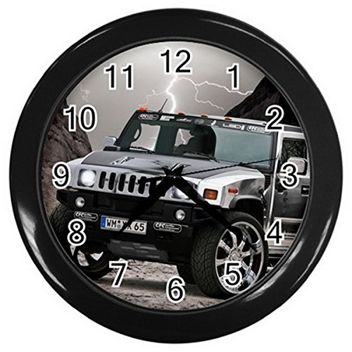 WCR110 hummer h2 chrome Car Wall Clock Perfect for Home (Hummer Wall)