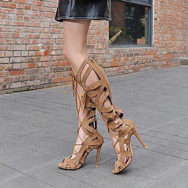 Tacones de mujer de primavera / verano / otoño / invierno Gladiator / confort / Novedad Polipiel Mié.Ding / Fiesta &/ Noche / vestimenta casual Brown