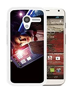 Matt Smith Doctor Who White High Quality Custom Motorola Moto X Protective Phone Case