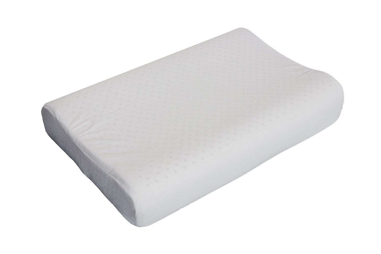 天然ラテックス枕スリムスリーVentilated有機ラテックスFoam Pillow with洗濯可能コットン枕カバー低刺激性 B073ZCQDT9