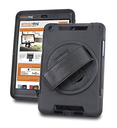 armourdog rugged '360 grip case' with hand strap and tempered glass screen...