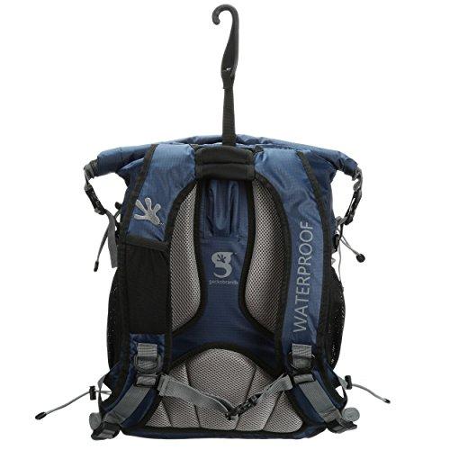 geckobrands Wasserdicht Alle Sport Rucksack marineblau/grau
