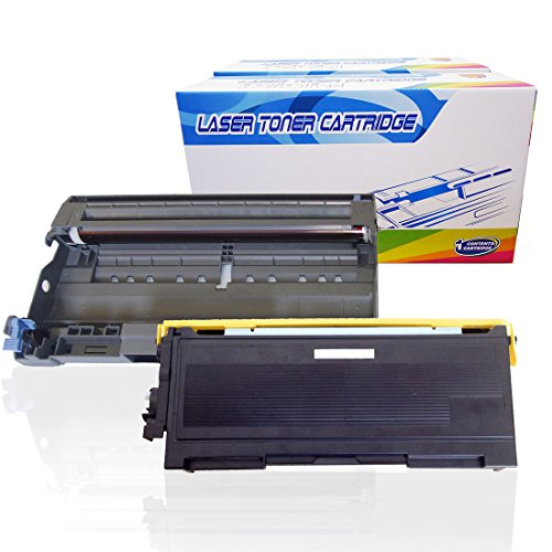 Inktoneram Compatible Toner Cartridge & Drum Replacement for Brother TN350 DR350 DR-350 TN-350 DCP-7020 IntelliFax 2820 2910 2920 MFC-7220 MFC-7225N MFC-7820N MFC-7420 HL-2030 HL-2040 (DR,TN,2PK) ()