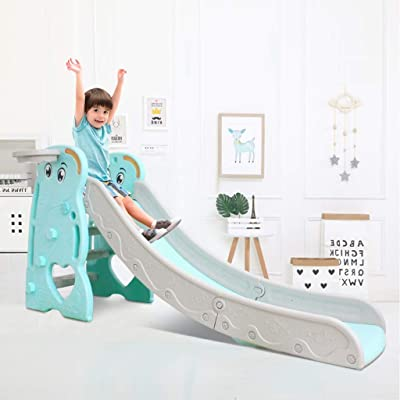 Infant Slide, 3 in 1 Children's Slide Indoor and Outdoor, Lightweight, Sturdy, Portable Slide Climber 2 Year Old and Up Inside Outdoor Playground Plastic Climbing Toys: Toys & Games