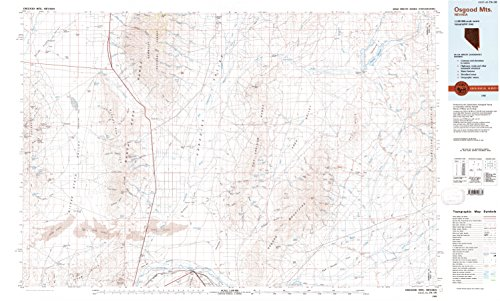 YellowMaps Osgood MTS NV topo map, 1:100000 Scale, 30 X 60 Minute, Historical, 1985, Updated 1985, 24.1 x 40 in - Tyvek