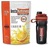 InstaKetones® Orange Burst 11.7g GoBHB® Per Scoop (Caffeine Free) (15 Servings) Exogenous Ketones .62 lbs (Comes w/FREE BPA-FREE Shaker Bottle)