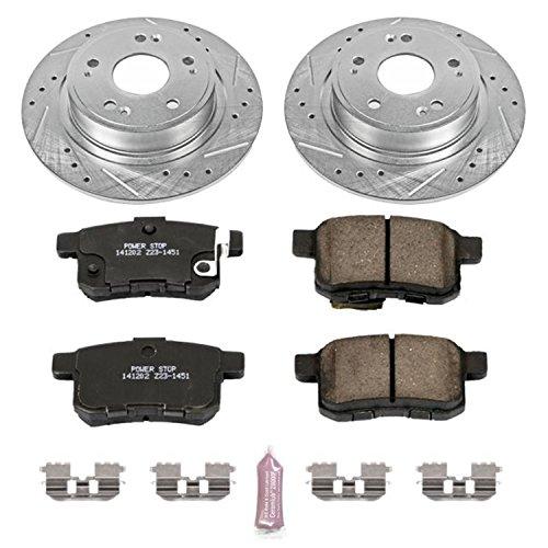 Power Stop K5368 Rear Brake Kit with Drilled/Slotted Brake Rotors and Z23 Evolution Ceramic Brake Pads