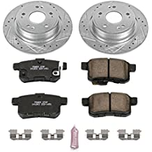 Power Stop K5368 Rear Z23 Evolution Brake Kit with Drilled/Slotted Rotors and Ceramic Brake Pads