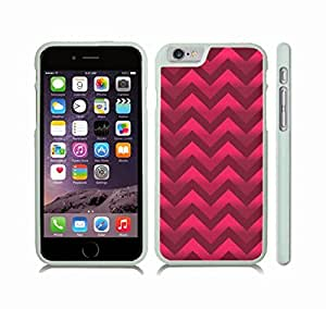 iStar Cases? iPhone 6 Case with Chevron Pattern Pink/ Maroon Gradient Stripe , Snap-on Cover, Hard Carrying Case (White)