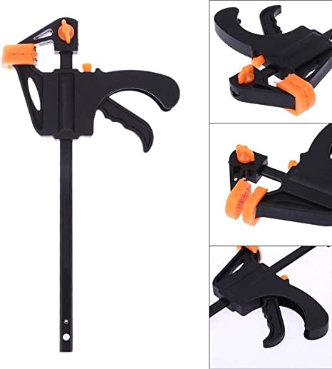 4Pcs 4 inch Woodworking Bar F Clamp Clip Hard Grip Ratchet Release Aluminum Body