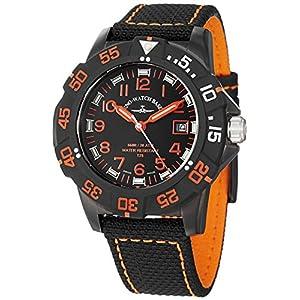 Zeno Men's 6709-515Q-A15 Divers Analog Display Quartz Black Watch