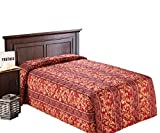 Everest Supply Quilted Bedspread Designed for Hotel/Motel-Resort-Air B&B & Home Over Sized 21'' Fall on Each Side 100% Polyester Fabric-Modern Print-Red-Water Fall Style(Full 96x118-5.5 lbs)