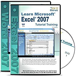 Microsoft Excel 2007 Training and Microsoft Word 2007 Tutorial on 4 DVDs