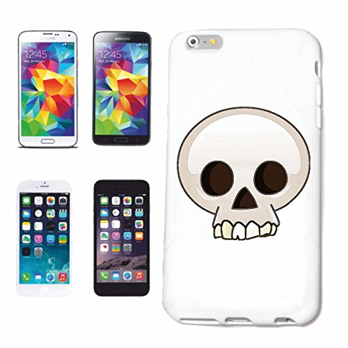 "cas de téléphone iPhone 7 ""sourire de EMOTICON de SKULL SMILEY SKULL ""SMILEYS SMILIES ANDROID IPHONE EMOTICONS IOS APP"" Hard Case Cover Téléphone Covers Smart Cover pour Apple iPhone en blanc"