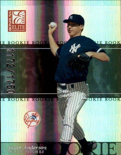 2003 Donruss Elite Baseball Card #197 Jason Anderson - 2003 Baseball Elite Card Donruss