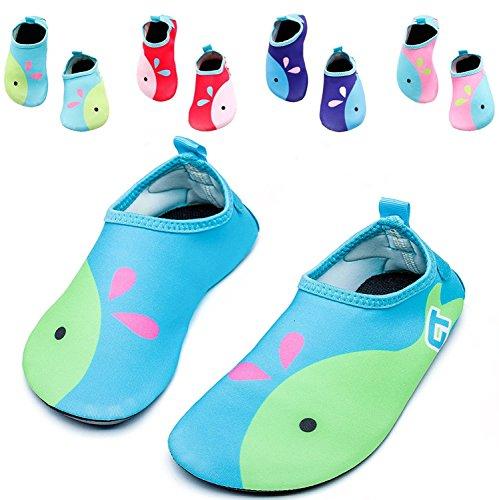 Vivay Toddler Kids Water Shoes Quick Drying Swim Beach Shoes Aqua Socks for Boys & Girls … – DiZiSports Store