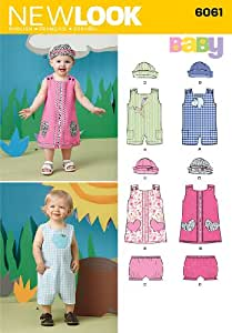 New Look 6061 Babies Sportswear Sewing Pattern, Size A (NB-Small - Medium - Large)