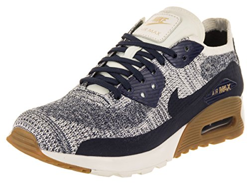 Nike Womens Air Max 90 Ultra 2.0 Flyknit Casual Shoe College Blu Scuro 400