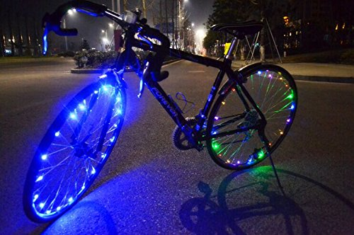Soondar¨ Super Bright 20-LED Bicycle Bike Rim Lights - Personalized LED Colorful Wheel Lights - Perfect for Safety