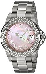 Invicta Women's 19874 Angel Quartz 3 Hand Light Pink Dial Watch