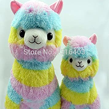 2015 Juguetes 35cm Rainbow Alpaca Plush Toys Adora Doll Japan Alpaca Alpacasso Peluches Animal Sheep Llama