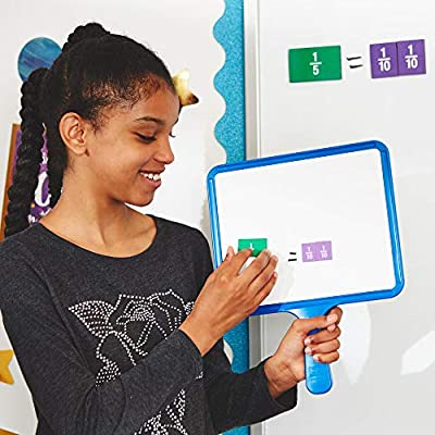EAI Education Magnetic Blank Dry-Erase Paddles - Set of 5: Toys & Games