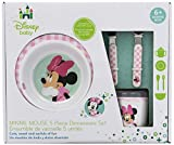 Disney Baby Minnie Mouse 5 Piece Melamine Dinnerware Set
