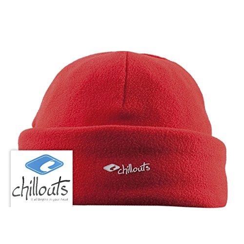 Talla Gorro CHILLOUTS de rojo única para hombre punto rojo pPp7qx0Ow