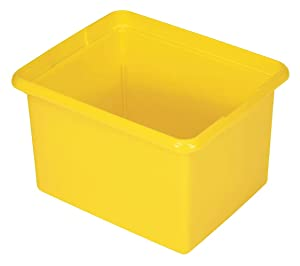 Rubbermaid Commercial Products FG9T8400YEL Organizing Bin, Housekeeping Cart Accessories, 30 quart, Yellow