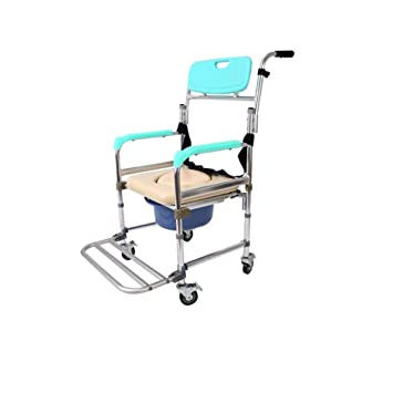 Hengtongtongxun Silla de ruedas multifuncional, asiento de inodoro portátil Comfort Chair para acampar, playa