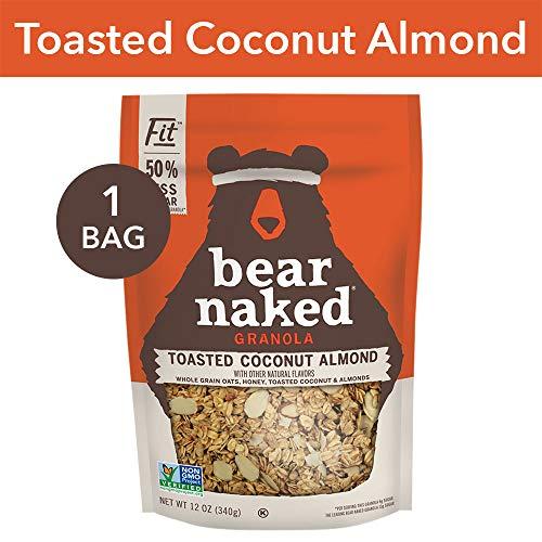 Bear Naked Toasted Coconut Almond Fit Granola - Gluten Free | Non-GMO | Kosher | Vegetarian Friendly - 12 Oz