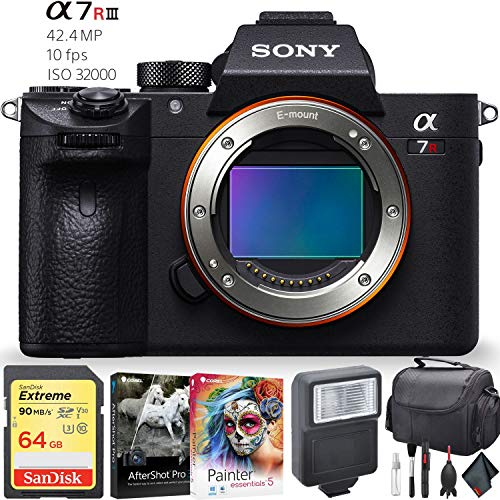 Sony Alpha a7R III Mirrorless Digital Camera (Body Only) Accessory Combo (Digital Combo Camera)