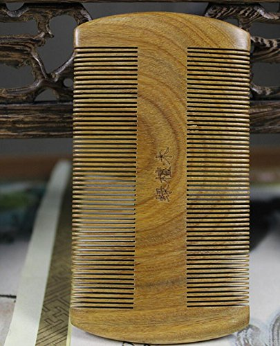 Kingwin Double Sided Carved Flower Head Lice Dectection Comb Sandalwood Flea Comb