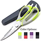 Kitchen Scissors Shears by Pridebit - Multifunction Heavy Duty Come-Apart Kitchen Shears with Magnetic Holder