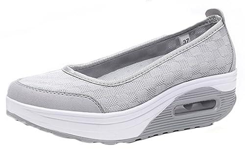 Sneakers grigie per donna Newzcers Dv078lkII