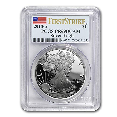 2018 S 1 oz Proof Silver American Eagle PR-69 PCGS (First Strike) 1 OZ PR-69 PCGS