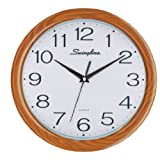 Swingline Fashion Wall Clock, 12-Inch in Diameter, Requires 1 AA Battery (Not Included), Faux Wood, 6447427007