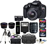 Canon EOS Rebel T6 18MP Wi-Fi DSLR Camera with 18-55mm IS II Lens + 32GB & 16GB Card + Wide Angle Lens + Telephoto Lens + Flash + Grip + Tripod – 48GB Deluxe Accessories Bundle Review